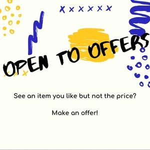 ✨OPEN TO OFFERS✨